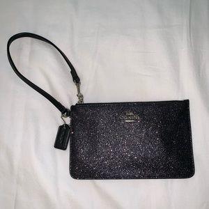 Peach wristlet wallet